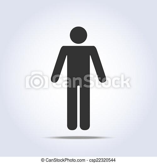 reputacja, icon., wektor, ludzki, ilustracja - csp22320544