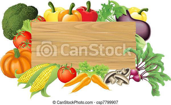 roślina, drewniany, ilustracja, znak - csp7799907