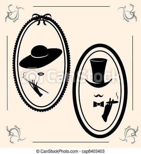 rocznik wina, babski, kapelusz - csp8403403