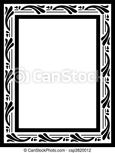 rocznik wina, wektor, frame. - csp3820012