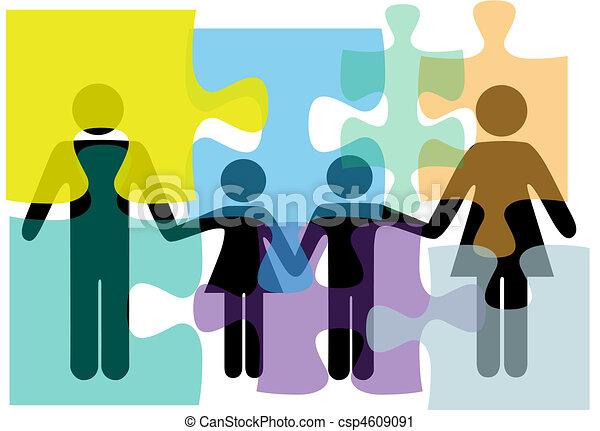 rodzina, ludzie, zagadka, rozłączenie, zdrowie, służby, problem - csp4609091