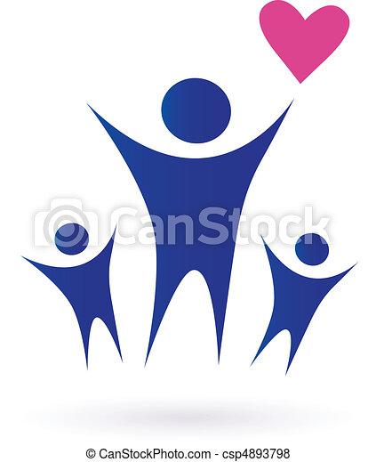 rodzina, zdrowie, współposiadanie, ikony - csp4893798