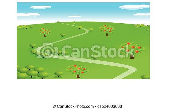 rolna scena - csp24003688