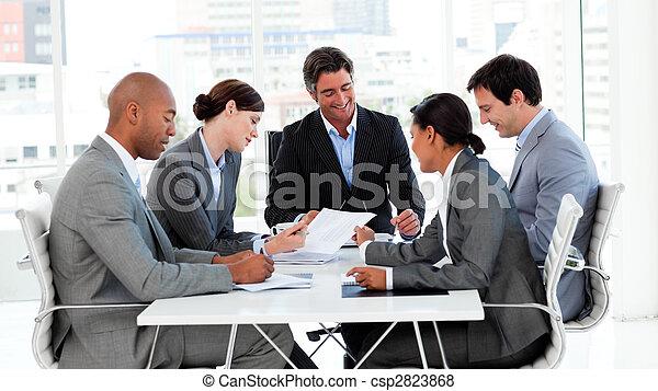rozmaitość, handlowy, pokaz, grupa, etniczny, spotkanie - csp2823868