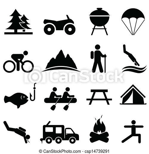 rozrywka, wolny czas, ikony - csp14739291