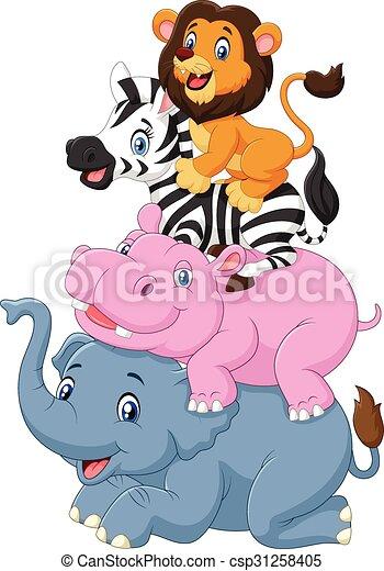 rysunek, zwierzę, zabawny, reputacja - csp31258405