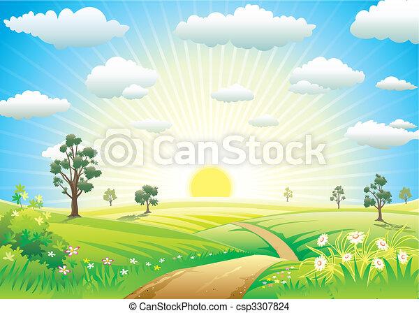 słoneczny, łąka - csp3307824