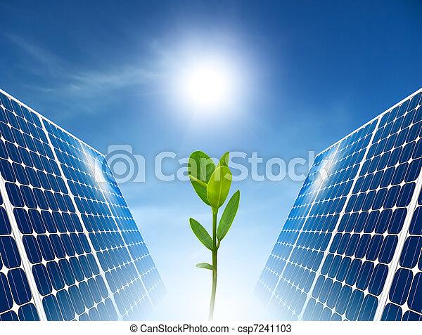 słoneczny, pojęcie, zielony, energy., panel. - csp7241103
