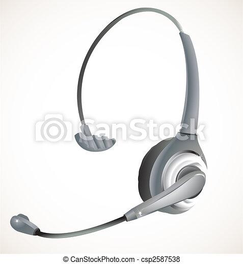 słuchawki, środek, rozmowa telefoniczna - csp2587538