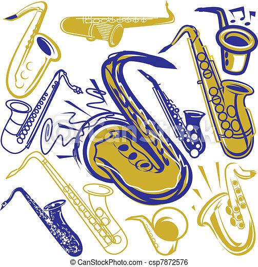 saksofon, zbiór - csp7872576