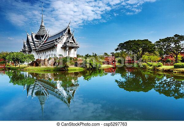 sanphet, pałac, prasat, tajlandia - csp5297763