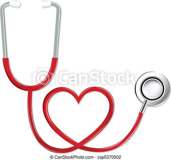 sercowa forma, stetoskop - csp5370502