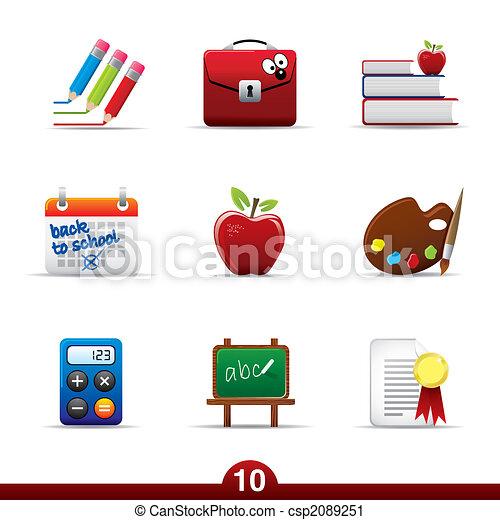 seria, wykształcenie, -, ikona - csp2089251