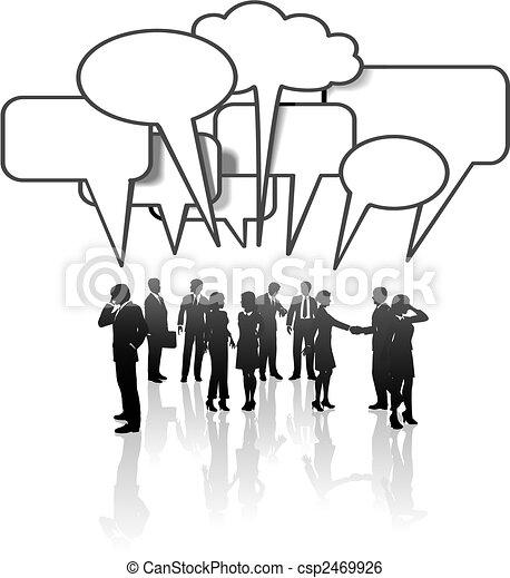 sieć, handlowy zaludniają, media, komunikacja, zaprzęg rozmowa - csp2469926