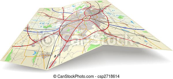 składany, mapa - csp2718614