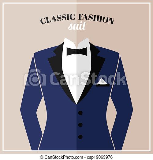 smoking, łuk, klasyk, garnitur - csp19063976