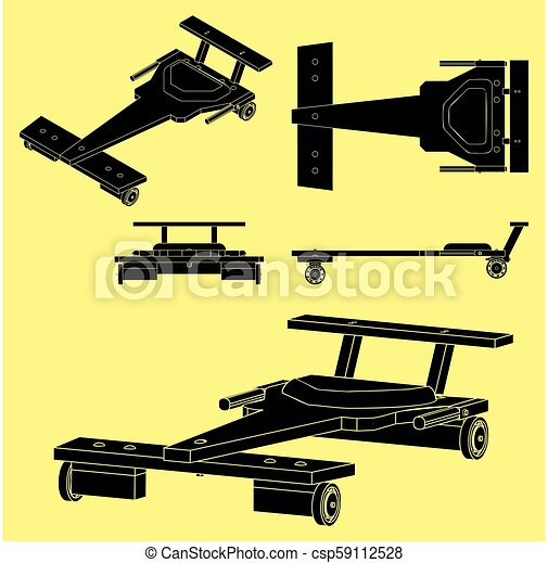 soapbox, szkic, klasyczny wóz, bez, czarnoskóry, napełniać - csp59112528