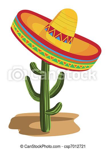 sombrero, kaktus - csp7012721