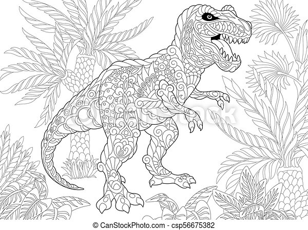 species., tyrannosaurus, dinosaur., wygasły - csp56675382