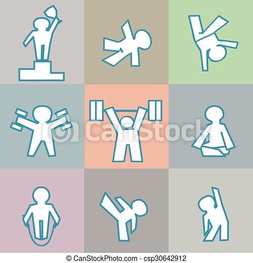 sport, ikony - csp30642912