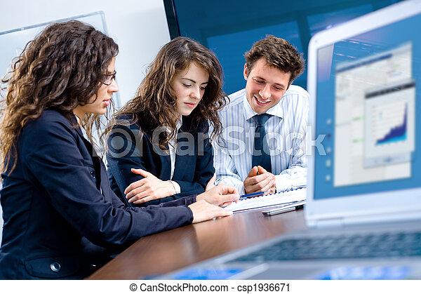 spotkanie, handlowe biuro - csp1936671