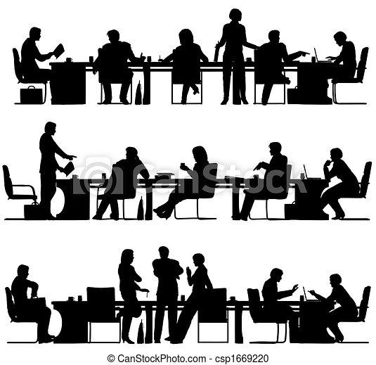 spotkanie, handlowy - csp1669220