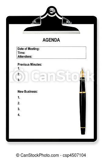 spotkanie porządek dzienny - csp4507104