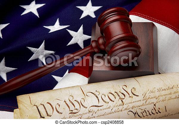 sprawiedliwość, amerykanka, nieruchome życie - csp2408858