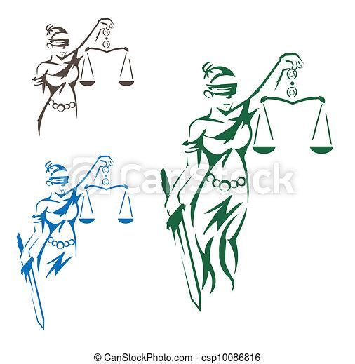 sprawiedliwość, dama - csp10086816