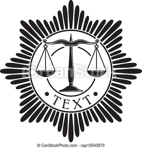 sprawiedliwość, odznaka, skalpy - csp15543970