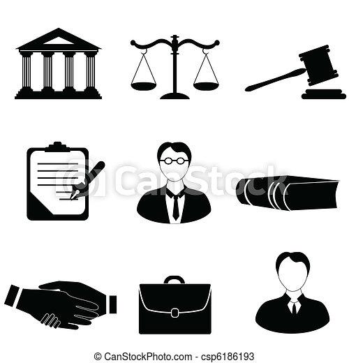 sprawiedliwość, prawo, prawny, ikony - csp6186193