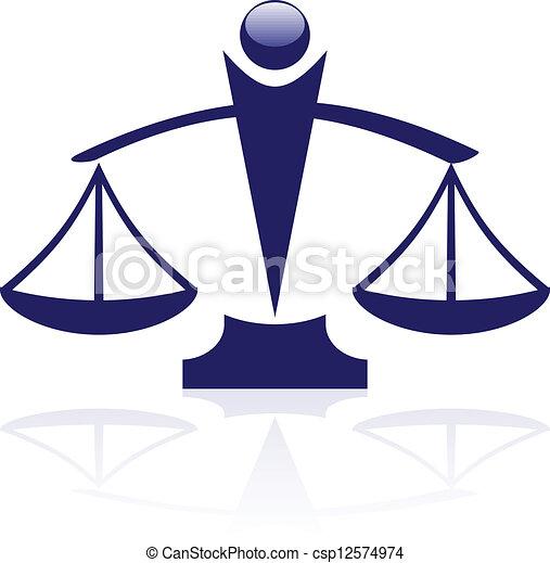 sprawiedliwość, wektor, -, ikona, skalpy - csp12574974