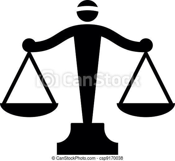 sprawiedliwość, wektor, ikona, skalpy - csp9170038