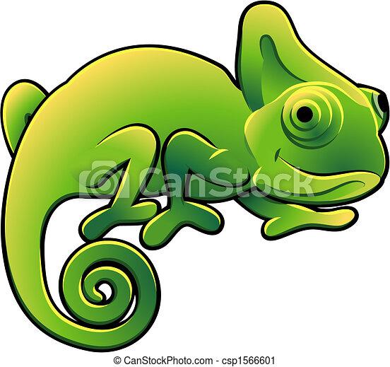 sprytny, kameleon, ilustracja, wektor - csp1566601