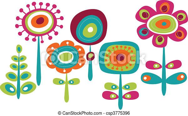 sprytny, kwiaty, barwny - csp3775396