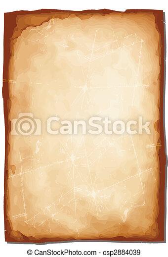 stary, ilustracja, papier, złamany, wektor, szorstki - csp2884039