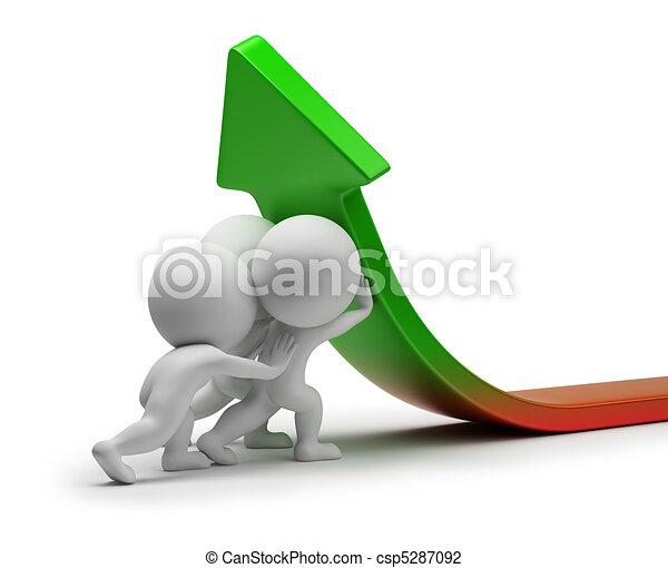 statystyka, ludzie, -, ulepszenie, mały, 3d - csp5287092