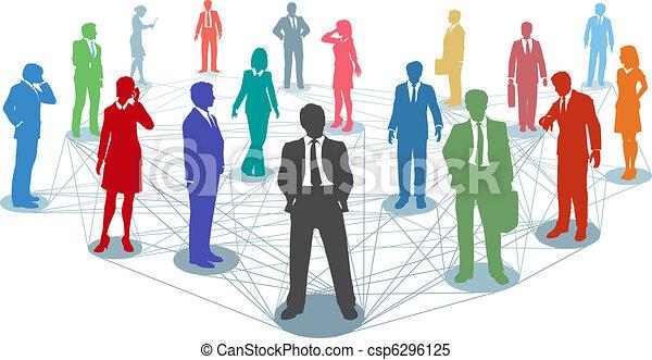stosunek, ludzie, sieć, handlowy, połączyć - csp6296125