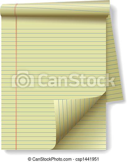 strona, papier, prawny, róg, żółta droga - csp1441951