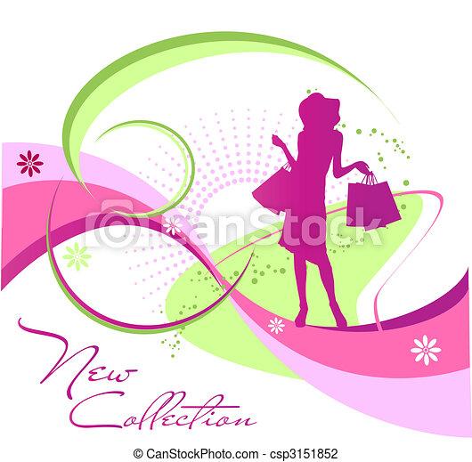 sylwetka, kobieta, fason - csp3151852