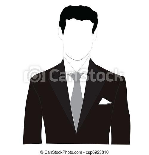 sylwetka, mężczyźni, czarnoskóry dostosowują - csp6923810