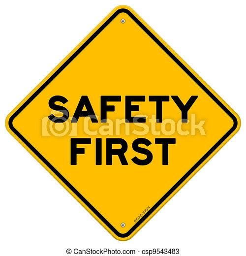 symbol, bezpieczeństwo pierwsze - csp9543483