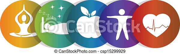 symbol tęczy, zdrowie - csp15299929