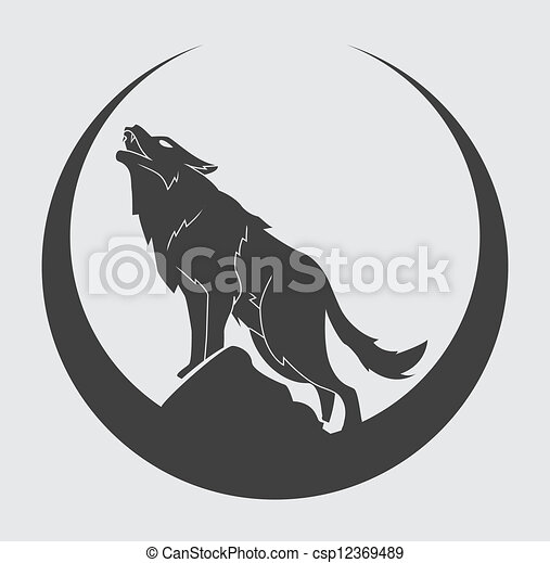 symbol, wilk - csp12369489
