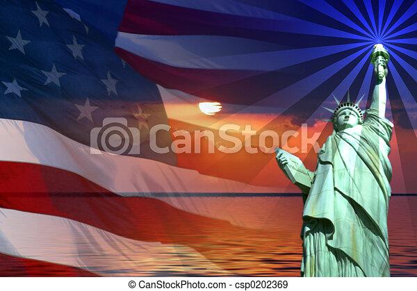 symbolika, ameryka, znaki - csp0202369