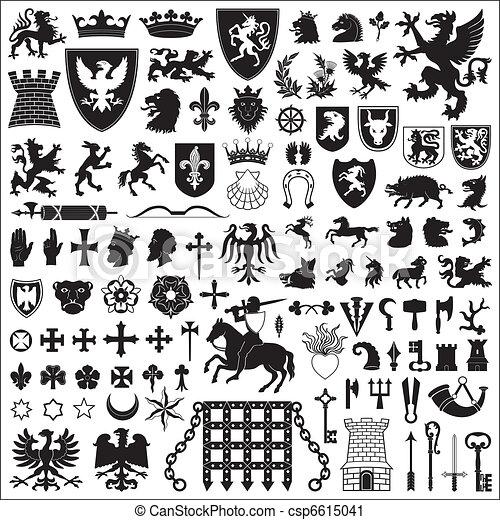 symbolika, elementy, heraldyczny - csp6615041