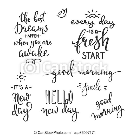 szczęście, rano, cytuje, życie, motywacja - csp36097171