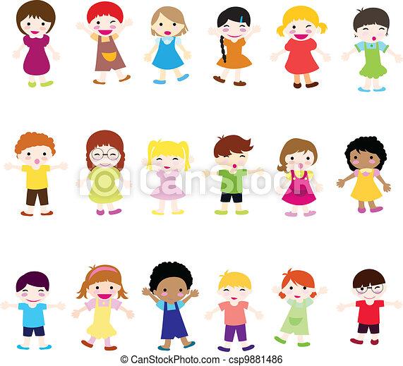 szczęśliwy, dzieci - csp9881486