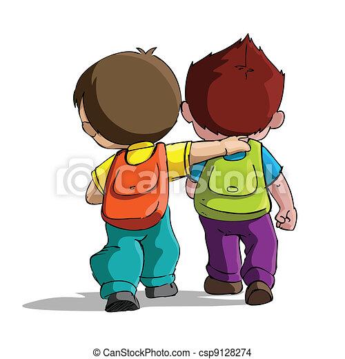szkoła, chodzenie, dzieciaki - csp9128274