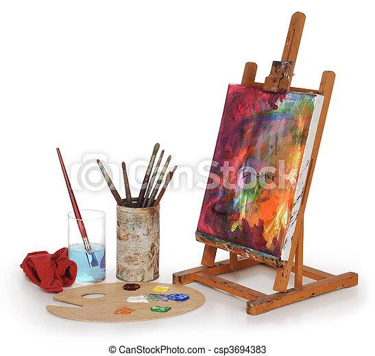 szkoła, sztuka - csp3694383